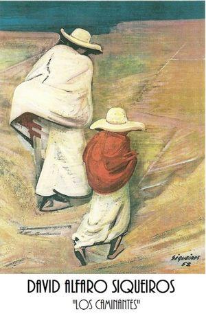 POSTER LOS CAMINANTES (SIQUEIROS)