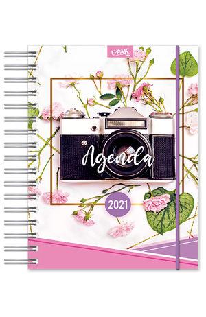 Agenda Premium diaria Flowers Camera 2021