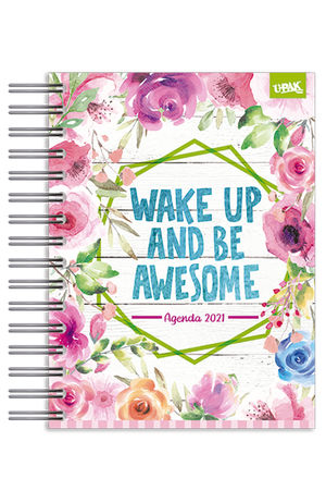Agenda básica diaria Awesome Flowers 2021