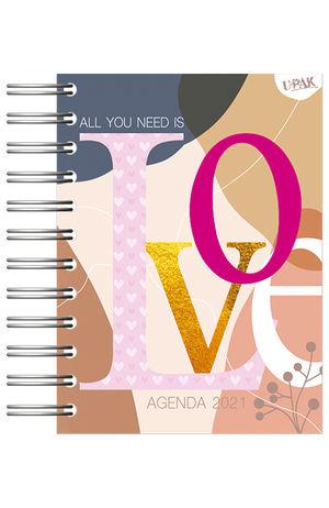 Agenda básica diaria Corazones Inspire 2021