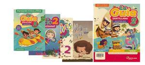 Paquete La guía Santillana 2 Primaria + Educación Socioemocional  + Detectives Matemáticos + Alas de papel 2021