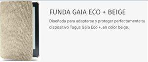 Funda de libros electrónicos Tagus Gaia (Color beige)