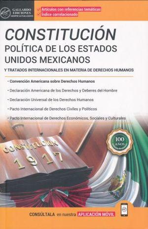 CONSTITUCION POLITICA DE LOS ESTADOS UNIDOS MEXICANOS Y TRATADOS INTERNACIONALES 2018