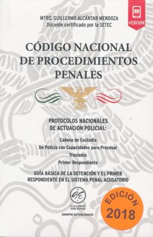 CODIGO NACIONAL DE PROCEDIMIENTOS PENALES 2018 (BOLSILLO)