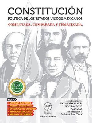 CONSTITUCION POLITICA DE LOS ESTADOS UNIDOS MEXICANOS 2019 COMENTADA