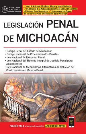 LEGISLACION PENAL DE MICHOACAN 2019