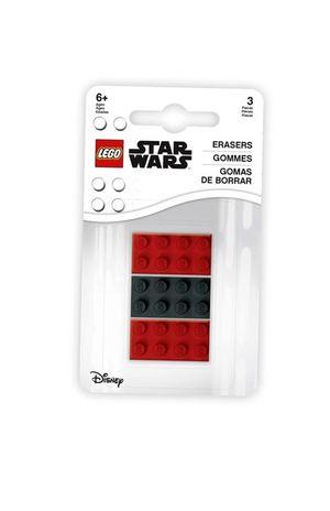 Goma de borrar Lego 3 pzas. (pack 2 rojas 1 negra)