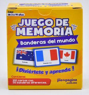 Juego de memoria de banderas del mundo
