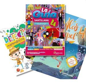 Paquete Primaria oficial Guía Santillana 4 + Alas de papel + Detectives matemáticos