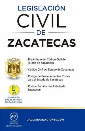 Legislación Civil de Zacatecas 2021 / 2 ed.