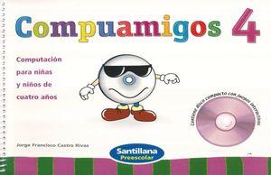 PAQ. COMPUAMIGOS 4. PREESCOLAR (LIBRO + CD)