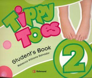 PAQ. TIPPY TOES 2 (STUDENTS BOOK + CD + STICKERS + MFL + CD B )