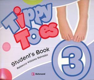 PAQ. TIPPY TOES 3 (STUDENTS BOOK + CD + STICKERS + CD ROM + MFL + CD C)