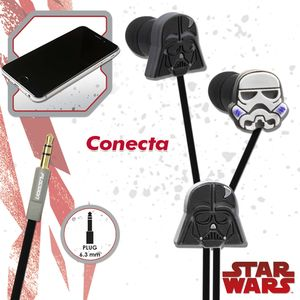 Audífono estéreo relieve Star Wars Disney