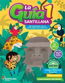 Paq. La guía Santillana 1 Primaria + Alas de papel + Auxiliar de Matemáticas + Educación Socioemocional
