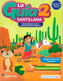 Paq. La guía Santillana 2 Primaria + Alas de papel + Auxiliar de Matemáticas + Educación Socioemocional