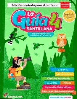 Paq. La guía Santillana 4 Primaria + Alas de papel + Auxiliar de Matemáticas + Educación Socioemocional