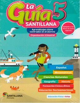 Paq. La guía Santillana 5 Primaria + Alas de papel + Auxiliar de Matemáticas + Educación Socioemocional