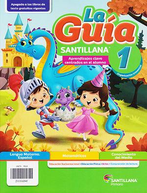 Paq. 1 primaria oficial guía santillana + fiesta de las letras / 20 ed.
