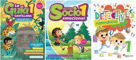 PAQ. GUIA SANTILLANA 1 + ED. SOCIOEMOCIONAL + DETECTIVES MATEMATICAS 1 / ED. 19 (MERCADO OFICIAL)