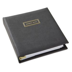 Charcoal Black PU Address Book (2499ADD9807)