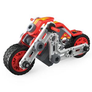 Motocicleta. Meccano Erector Discovery mis primeros vehículos Jr.