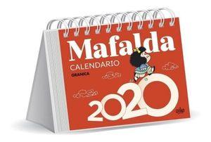 CALENDARIO DE ESCRITORIO 2020 MAFALDA (COLOR ROJO)