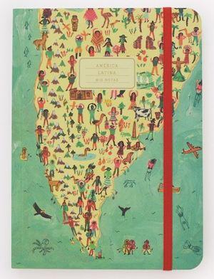 Cuaderno cosido América Latina (Tamaño mediano - hojas rayadas)