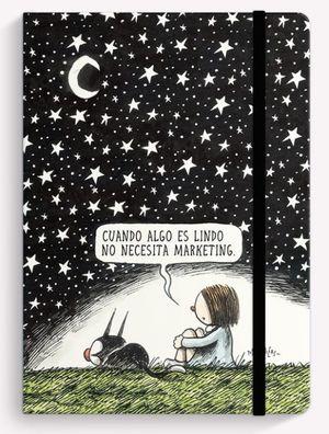 Cuaderno cosido Noche Estrellada (Tamaño mediano - hojas blancas)