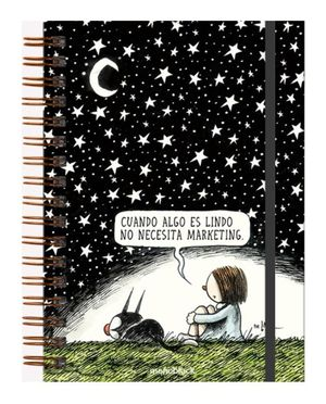 Cuaderno Noche Estrellada Macanudo (Tamaño A5 - hojas rayadas)