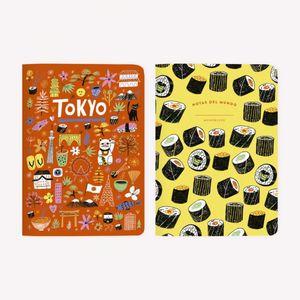 LIBRETAS DE VIAJE POCKET TOKYO (2 PIEZAS)