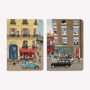 LIBRETAS DE VIAJE POCKET DE PARIS A LONDRES (2 PIEZAS)