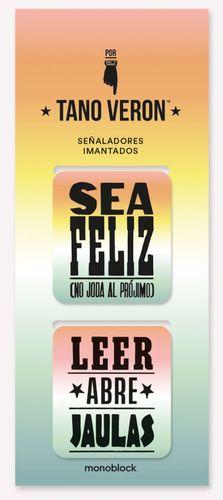 SEÑALADOR IMANTADO LEER / FELIZ (2 SEÑALADORES POR TIRA)