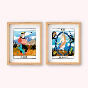 PAQ. WALL ART MEDIANO BRUJA MODERNA (INCLUYE 2 PIEZAS / LE MAT & LE MONDE)