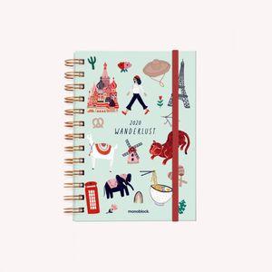 Agenda de viaje 2020 Wanderlust (tamaño pocket)