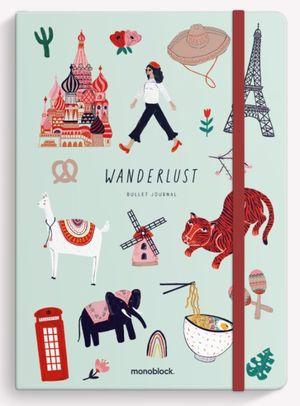 Cuaderno cosido Wanderlust de Viaje (Tamaño mediano - hojas punteadas)