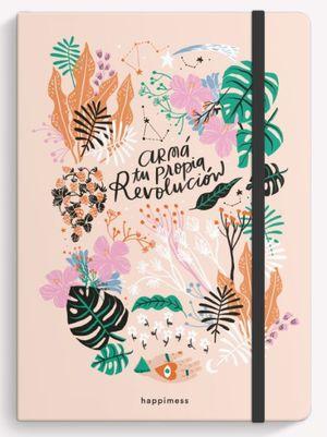 Cuaderno cosido Happimess Revolución (Tamaño mediano - hojas punteadas)