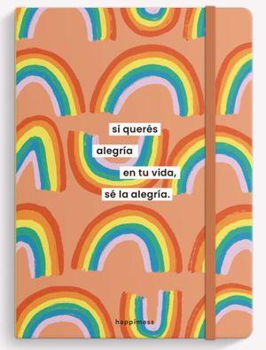 Cuaderno cosido Sé la Alegria Arcoíris (Tamaño mediano - hojas rayadas)