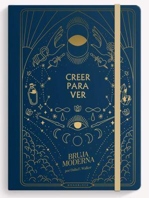 Cuaderno cosido Bruja Moderna Creer para ver (Tamaño mediano - hojas blancas - color azul)