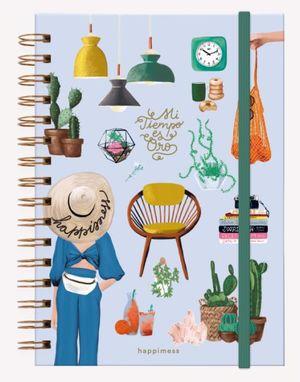 Cuaderno anillado Happimess Mi tiempo es Oro (Tamaño A5 - hojas rayadas)