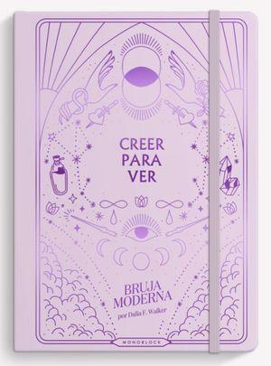 Cuaderno cosido Bruja Moderna Creer para ver (Tamaño mediano - hojas punteadas - color rosa)