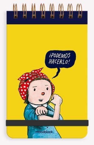 Libreta Reporter Anillada Podemos Hacerlo (Hojas blancas)