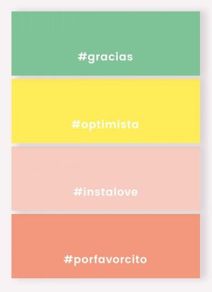 Notas Adhesivas Happimess Colorblock Hashtag (4 pzas.)