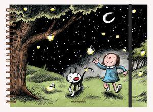 Cuaderno de Dibujo Macanudo Jugar entre las Estrellas / pd. (Tamaño A4 - hojas blancas)