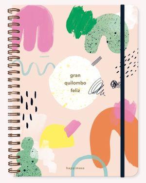 Cuaderno Happimess Quilombo (Tamaño A4 - hojas rayadas)