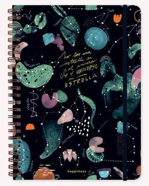Cuaderno Happimess Universo (Tamaño A4 - hojas rayadas)