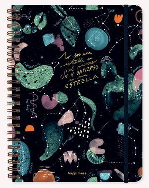Cuaderno Happimess Universo (Tamaño A4 - hojas cuadriculadas)