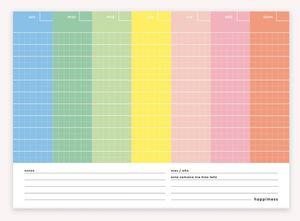 Planner Semanal Happimess Colorblock
