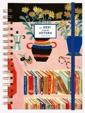 Agenda 2021 Un libro y una flor / pd. (Tamaño A5)