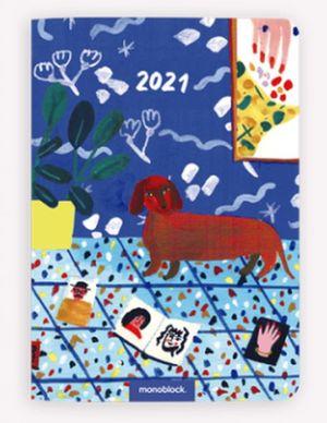 Agenda Mínima 2021 María Luque Perro Salchicha